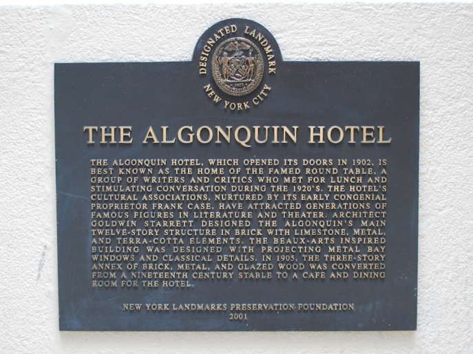 The Historic Algonquin Hotel
