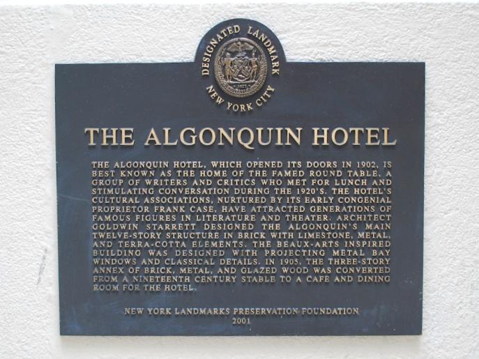 The Historic Algonquin Hotel